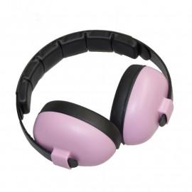 casque anti bruit Babybanz pour bebes de 0 à 2 ans. couleur rose