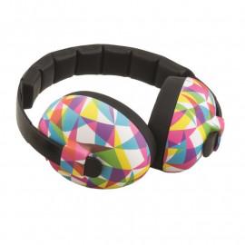 casque Babybanz anti bruit pour enfants de 0 à 2 ans. couleur geo