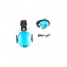 casque Babybanz anti bruit pour enfants de 2 ans et plus. couleur bleue