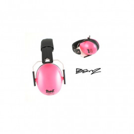 casque anti bruit Babybanz pour enfants de 2 ans et plus. couleur rose