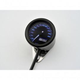 Compteur vitesse moto noir 260 KMH Velona 48 MM
