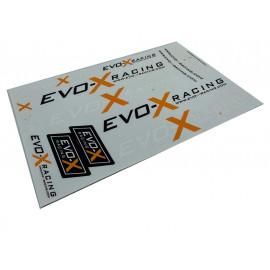 PLANCHE DE STICKER EVO-X RACING