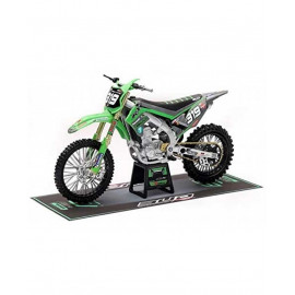 Miniature Kawasaki KX450F 2020 Bud Racing N° 319 Quentin Prugnières échelle 1/1