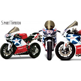 Bulle sport touring ZG Ducati 1098 - S - R- BAYLISS Tricolore - 848 - Nicky Hayden - 1198 - S