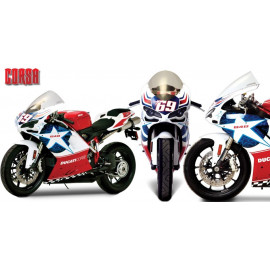 Bulle Ducati 1098 - S - R- BAYLISS Tricolore - 848 - Nicky Hayden - 1198 - S