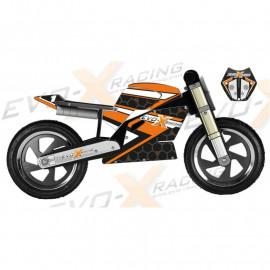Superbike Kiddimoto Replica KTM 1290 R Orange et noire