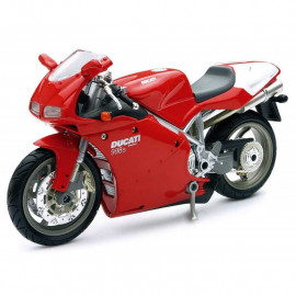 Miniature moto Ducati 998 S Rouge 1/12