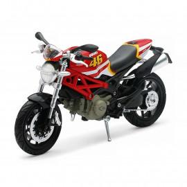 Miniature moto Ducati Monster 796 Rossi Edition 1/12