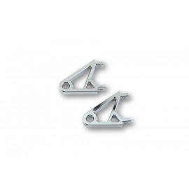 HIGHSIDER aluminium taillé masse Alu supports de phare XS chrome