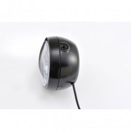 Phare noir LED 135mm Daytona fixations latérales