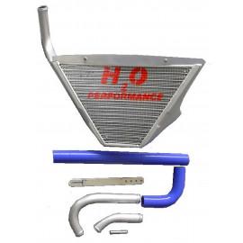 Radiateur d'eau additionnel incurvé + Kit YZF R1 09 à 14